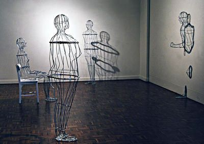 Gerry McMahon Caged People ART LOGIC