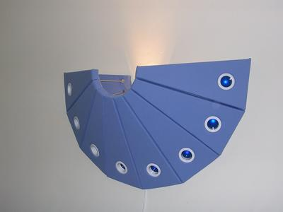 Jason Aslin 30 Degrees Blue Plush Lamp ART LOGIC