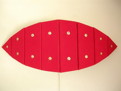 Jason Aslin Red Arcs Plush Lamp ART LOGIC