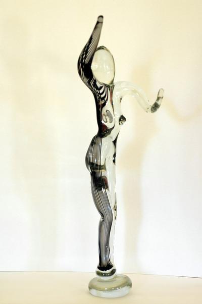 Randall Sach Blue Cane Figure ART LOGIC