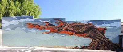Sebastian Humphreys Farrant Street Tree Mural ART LOGIC