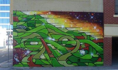 Sebastian Humphreys Wyatt Street Mural ART LOGIC