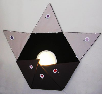 Jason Aslin Hexagonal Pyramid Plush Lamp ART LOGIC