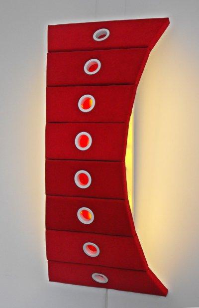 Jason Aslin Curves 3 Plush Lamp red ART LOGIC