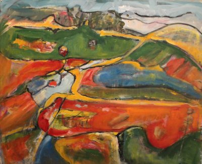 Maureen Finck Orange Landscape ART LOGIC