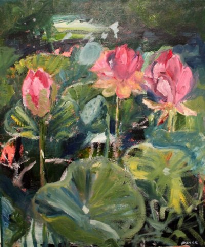 Maureen Finck Waterlillies 1 ART LOGIC