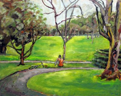 Maureen Finck Cyclist in the South Parklands ART LOGIC