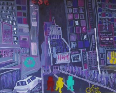J Eva Mitchell Times Square Impressions 1 ARTLOGIC