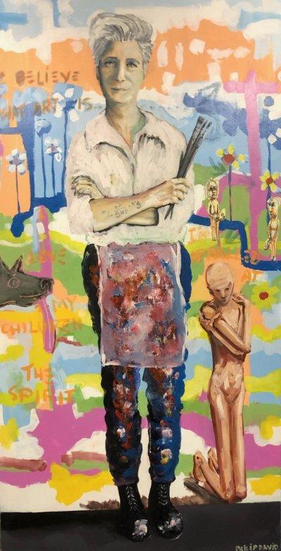 Philip David, Girl With Brushes, ART LOGIC