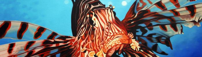 Matthew Welsby Lion Fish ART LOGIC