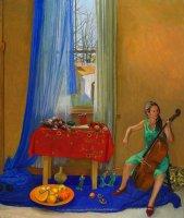 Brian Dunlop,  Janine Playing Cello, ART LOGIC