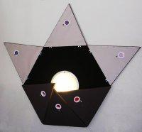 Jason Aslin Hexagonal Pyramid Plush Lamp ART LOGIC