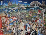 Geoffrey Stapleton -Adelaide At Festival Time - ART LOGIC