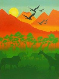 Graham Shaw Flying Through Orange ART LOGIC